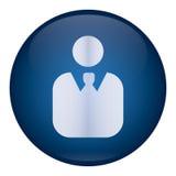 Blauw Mensenpictogram royalty-vrije stock foto