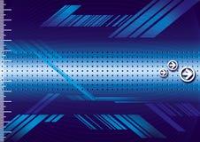 Blauw metaal Stock Illustratie
