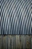 Blauw metaaldak voor boog de hangaar Royalty-vrije Stock Foto's