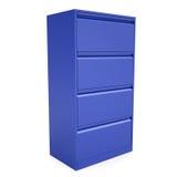 Blauw metaalkabinet Royalty-vrije Stock Afbeeldingen