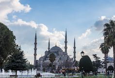 Blauw Moskee of Sultan Ahmed Mosque Turkish: Sultan Ahmet Camii in Istanboel, Turkije stock foto