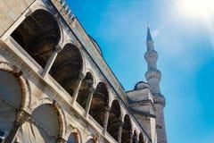 Blauw Moskee zijaanzicht Stock Afbeeldingen
