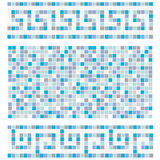 Blauw mozaïek Stock Foto's