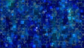 Blauw mozaïek Stock Afbeelding
