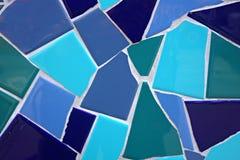Blauw mozaïek Royalty-vrije Stock Afbeeldingen