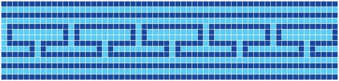 Blauw Mozaïek Stock Foto
