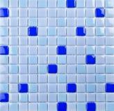 Blauw mozaïek, textuur Royalty-vrije Stock Afbeelding