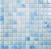 Blauw mozaïek, textuur Stock Afbeelding