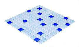 Blauw mozaïek, textuur Royalty-vrije Stock Foto's