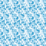 Blauw mozaïek, vector naadloos patroon Stock Foto