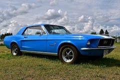 1966 Blauw Mustang Stock Afbeeldingen
