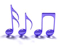 Blauw muzieksymbool Royalty-vrije Stock Fotografie