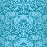 Blauw naadloos behang Royalty-vrije Stock Afbeeldingen