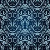 Blauw naadloos behang Stock Illustratie