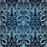 Blauw naadloos behang Royalty-vrije Illustratie