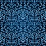 Blauw naadloos behang Vector Illustratie