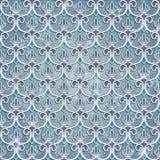 Blauw naadloos behang Stock Afbeelding