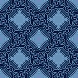 Blauw naadloos ornament Stock Illustratie