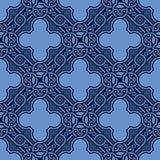 Blauw naadloos ornament Royalty-vrije Illustratie