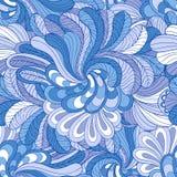 Blauw naadloos patroon Royalty-vrije Stock Fotografie