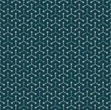 Blauw naadloos patroon Stock Afbeelding