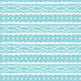Blauw naadloos patroon met abstract ornament Hand getrokken textuur Vector illustratie Royalty-vrije Stock Foto's