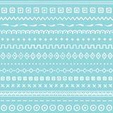 Blauw naadloos patroon met abstract ornament Hand getrokken textuur Vector illustratie Royalty-vrije Stock Fotografie