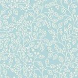 Blauw naadloos patroon met bladeren Royalty-vrije Stock Fotografie