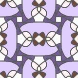 Blauw naadloos patroon met mozaïekornament Stock Afbeelding