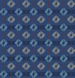 Blauw, naadloos patroon, vierkanten, veelkleurige strepen, geometrisch, Royalty-vrije Stock Foto's
