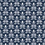 Blauw Nachtpatroon Stock Fotografie