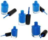 Blauw nagellak stock foto's