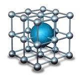 Blauw nanoparticleatoom Stock Afbeelding