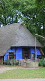 Blauw Nederlands Landbouwbedrijf Stock Foto