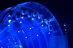 Blauw neonlicht E royalty-vrije stock foto