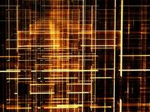 Blauw net - abstract digitaal geproduceerd beeld Stock Afbeeldingen