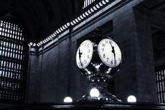 11:30 in blauw New York, Stock Afbeelding