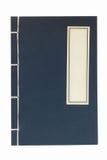 Blauw notaboek stock afbeeldingen