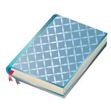 Blauw notitieboekje vector illustratie