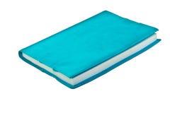 Blauw notitieboekje op witte achtergrond Royalty-vrije Stock Fotografie