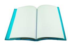Blauw notitieboekje op witte achtergrond Stock Fotografie