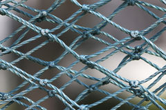 Blauw nylon netwerk Royalty-vrije Stock Foto's