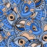 Blauw ogenpatroon Stock Afbeeldingen