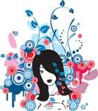 Blauw ontwerp vector illustratie