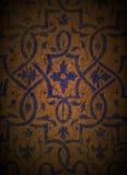 Blauw Ontwerp op Hout 1 Royalty-vrije Stock Foto