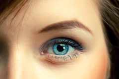 Blauw oog Royalty-vrije Stock Foto's
