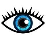 Blauw oogpictogram Royalty-vrije Stock Foto