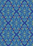 Blauw oosters patroon Royalty-vrije Stock Afbeeldingen