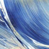 Blauw op canvas Stock Afbeelding