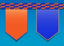 Blauw-oranje modern presentatiemalplaatje Stock Afbeelding